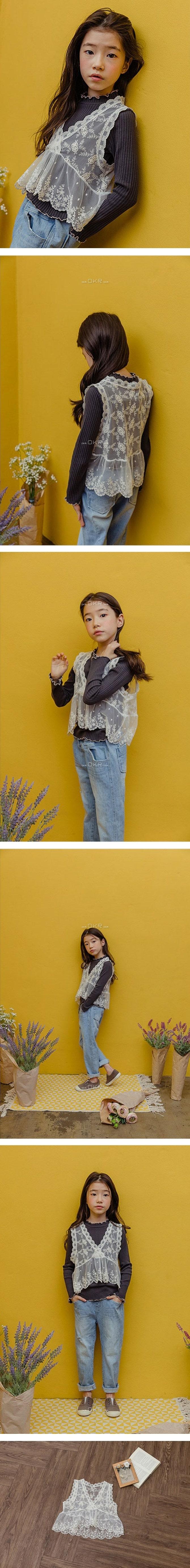 MILK POWDER - Korean Children Fashion - #Kfashion4kids - Lace Vest