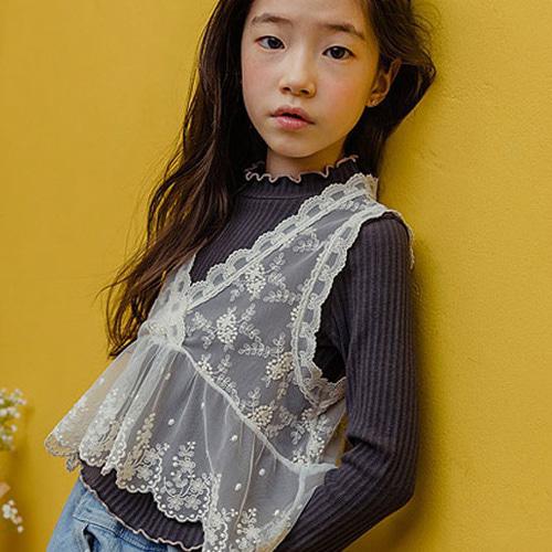 MILK POWDER - BRAND - Korean Children Fashion - #Kfashion4kids - Lace Vest