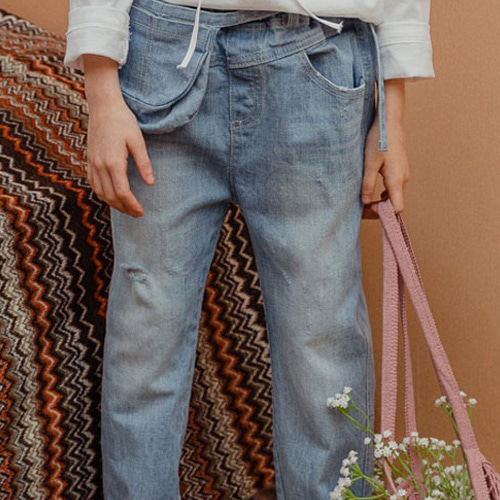 MILK POWDER - BRAND - Korean Children Fashion - #Kfashion4kids - Pocket Denim Pants
