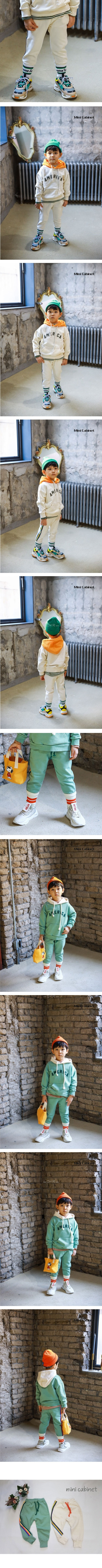 MINI CABINET - Korean Children Fashion - #Kfashion4kids - Five Colors Strap Pants
