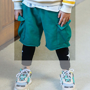 MINI CABINET - BRAND - Korean Children Fashion - #Kfashion4kids - Biscuit Baggy Pants