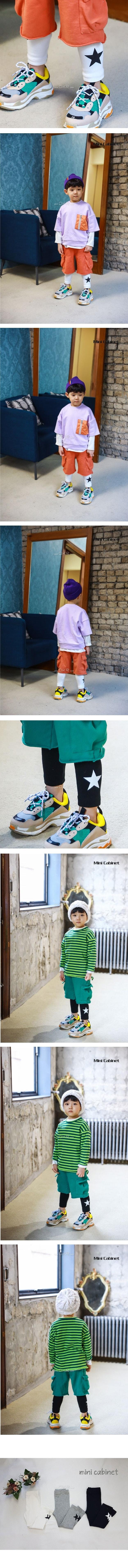 MINI CABINET - Korean Children Fashion - #Kfashion4kids - Star Leggings