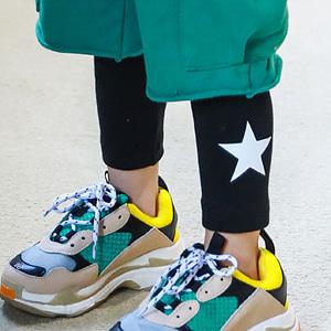 MINI CABINET - BRAND - Korean Children Fashion - #Kfashion4kids - Star Leggings