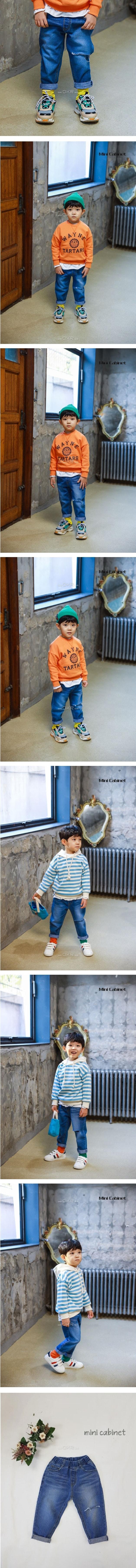 MINI CABINET - Korean Children Fashion - #Kfashion4kids - Vintage Denim Pants