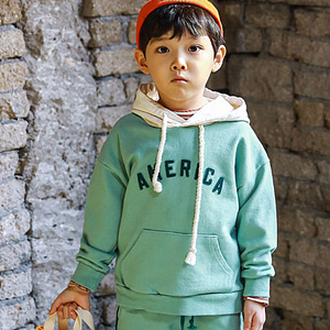 MINI CABINET - BRAND - Korean Children Fashion - #Kfashion4kids - America Hood Tee