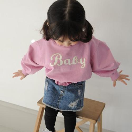 MOMO ANN - BRAND - Korean Children Fashion - #Kfashion4kids - Smoke MTM Tee