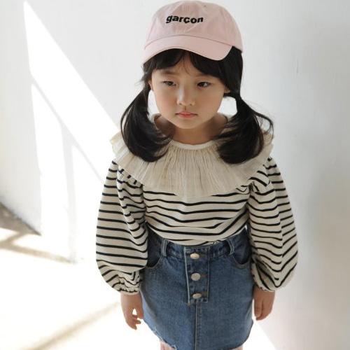 MOMO ANN - BRAND - Korean Children Fashion - #Kfashion4kids - Coco Frill Tee