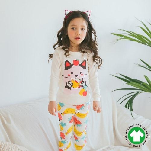 PUCO - BRAND - Korean Children Fashion - #Kfashion4kids - Fruits Cat Easywear