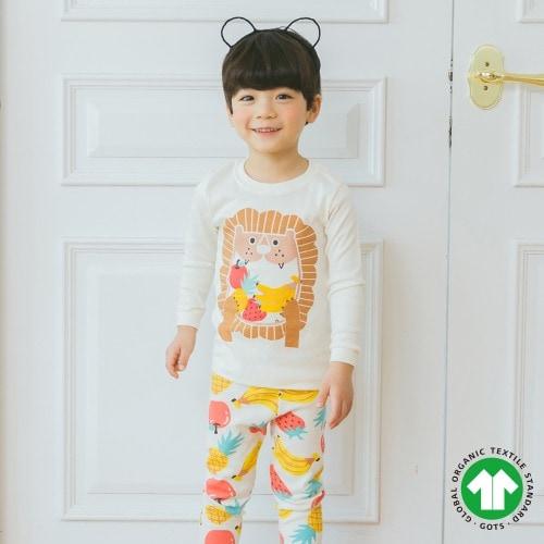 PUCO - BRAND - Korean Children Fashion - #Kfashion4kids - Fruits Lion Easywear