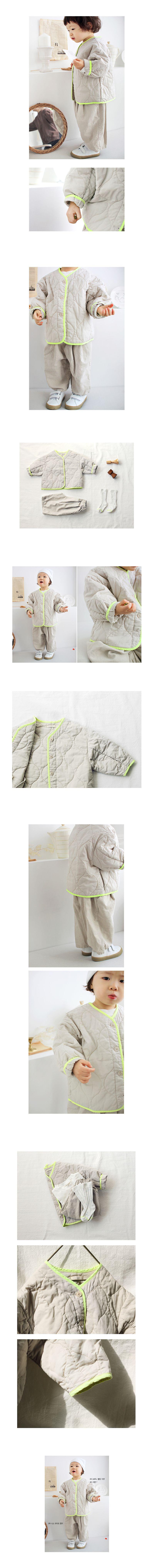 BIEN A BIEN - Korean Children Fashion - #Kfashion4kids - Bruny Quilting Jacket - 2