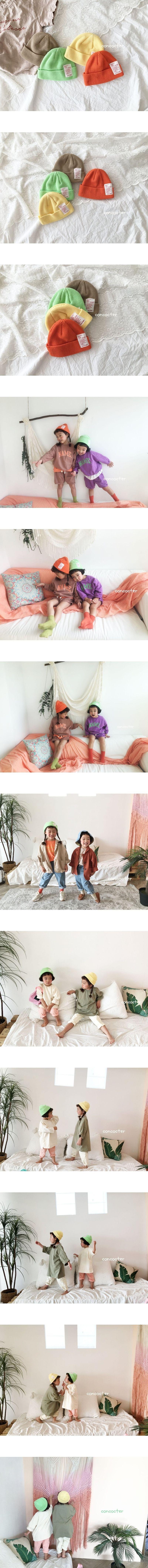 CONCOCTER - Korean Children Fashion - #Kfashion4kids - Label Short Beanie