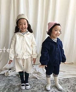 CONCOCTER - BRAND - Korean Children Fashion - #Kfashion4kids - Marine Top Bottom Set