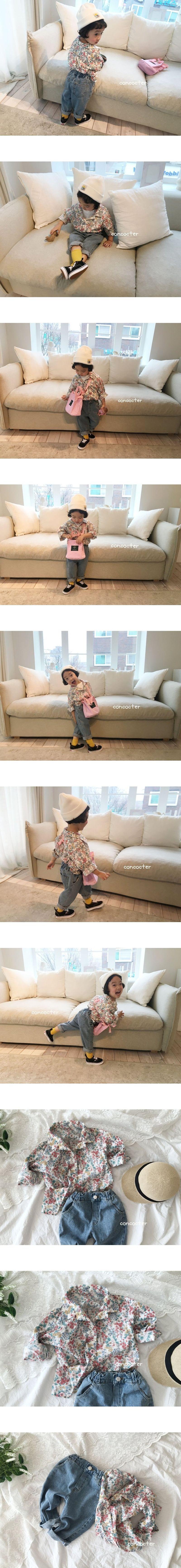 CONCOCTER - Korean Children Fashion - #Kfashion4kids - Girly Flower Shirt