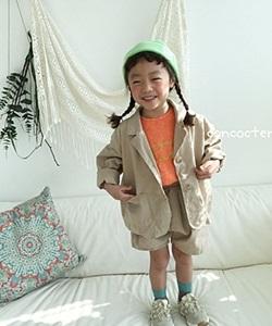 CONCOCTER - BRAND - Korean Children Fashion - #Kfashion4kids - Wide Jacket Pants Set