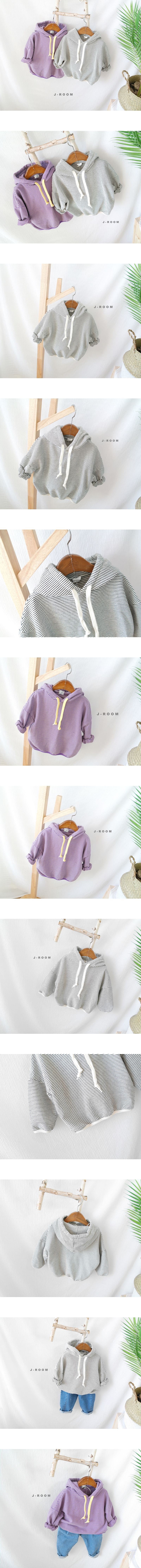 J-ROOM - Korean Children Fashion - #Kfashion4kids - Stripe Hood Tee