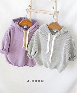 J-ROOM - BRAND - Korean Children Fashion - #Kfashion4kids - Stripe Hood Tee