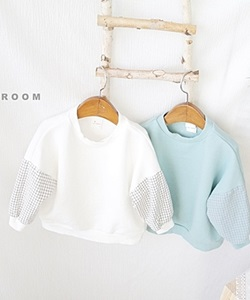 J-ROOM - BRAND - Korean Children Fashion - #Kfashion4kids - Check Bombi Tee