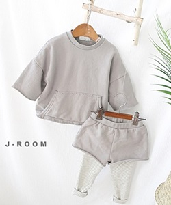 J-ROOM - BRAND - Korean Children Fashion - #Kfashion4kids - Pocket Top Bottom Set
