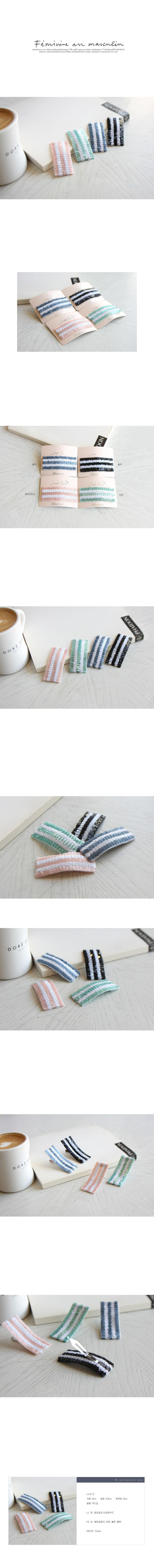 JIREH BOW - Korean Children Fashion - #Kfashion4kids - VoVon Hairpin [set of 4]