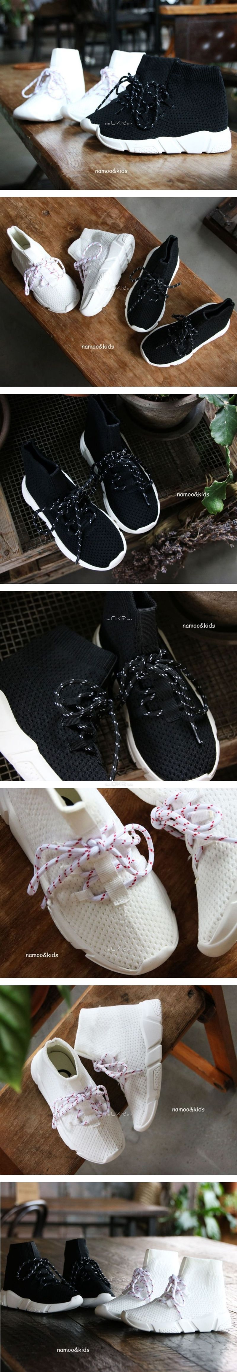 NAMOO & KIDS - Korean Children Fashion - #Kfashion4kids - Speed Lace Up Sneakers