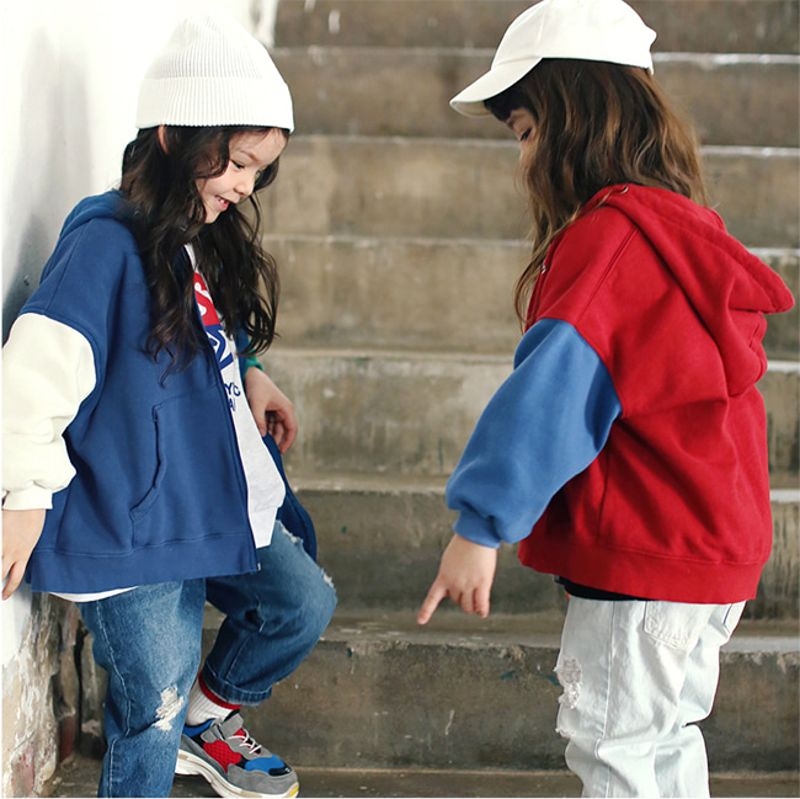 PEACH-CREAM - BRAND - Korean Children Fashion - #Kfashion4kids - Dodgers Hoodie Zip-up