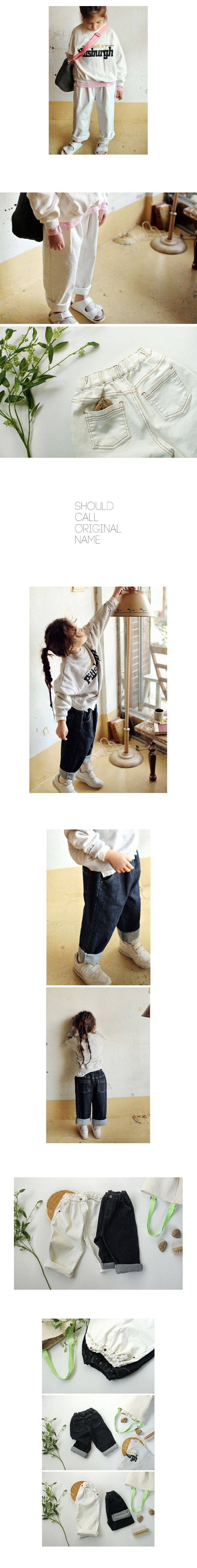 SCON - Korean Children Fashion - #Kfashion4kids - Corner Denim Pants - 2