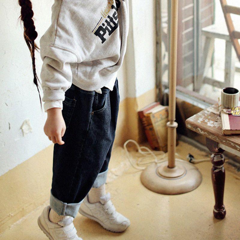 SCON - BRAND - Korean Children Fashion - #Kfashion4kids - Corner Denim Pants