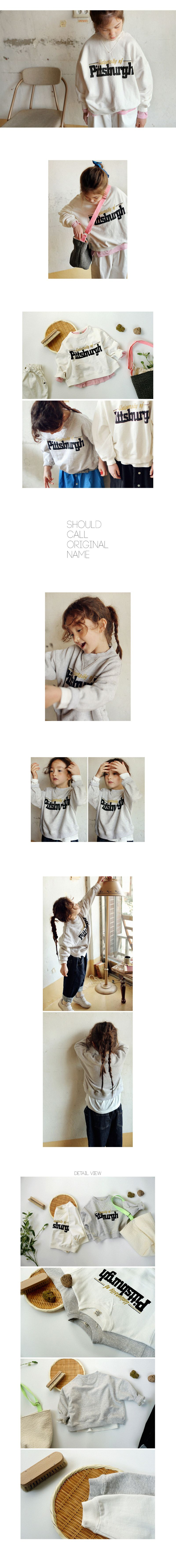 SCON - Korean Children Fashion - #Kfashion4kids - Pittsburgh Sweat Shirt - 2