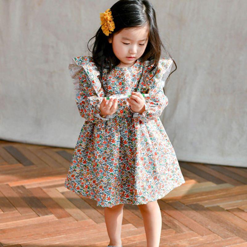 WANDOOKONG - BRAND - Korean Children Fashion - #Kfashion4kids - Hara Flower Dress