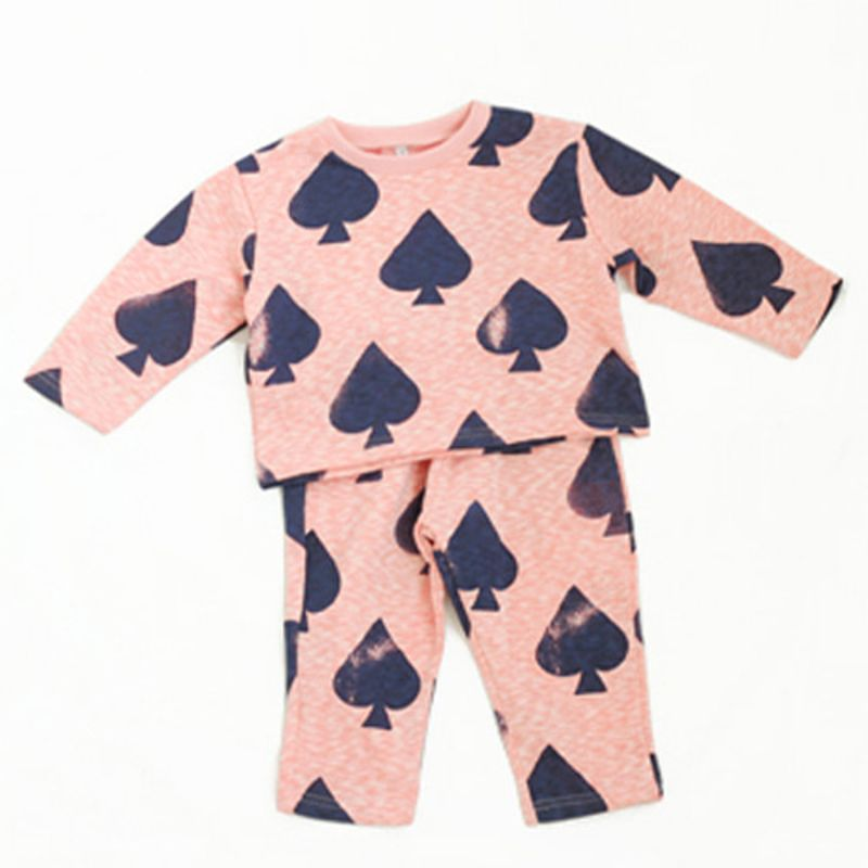 WANDOOKONG - BRAND - Korean Children Fashion - #Kfashion4kids - Boa Spade Top Bottom Set