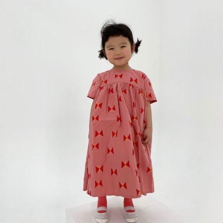 A-MARKET - BRAND - Korean Children Fashion - #Kfashion4kids - Ribbon Dress