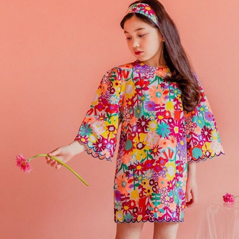 DORE DORE - BRAND - Korean Children Fashion - #Kfashion4kids - Flower Gabi Dress