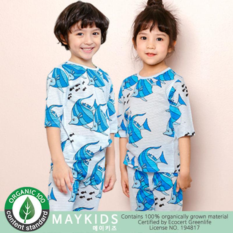 MAYKIDS - BRAND - Korean Children Fashion - #Kfashion4kids - Blue Fish Playwear