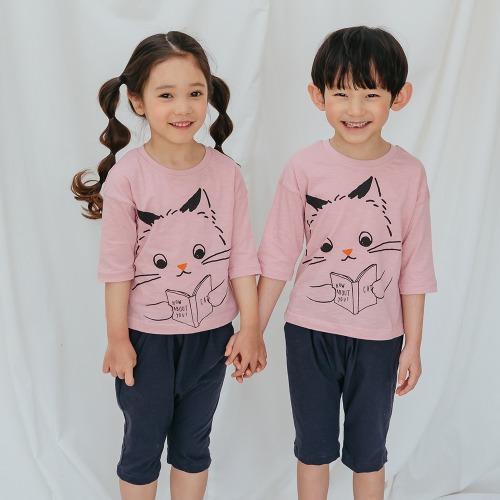 PUCO - BRAND - Korean Children Fashion - #Kfashion4kids - Reading Cat Easywear