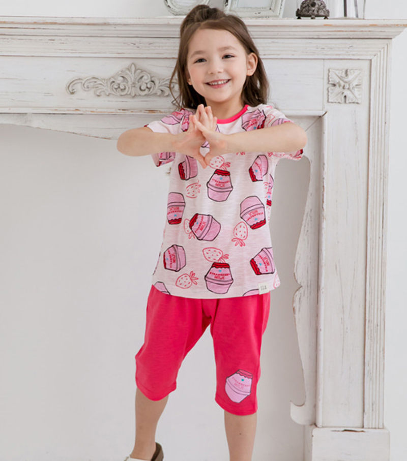TTASOM - BRAND - Korean Children Fashion - #Kfashion4kids - Pink Milk Easywear