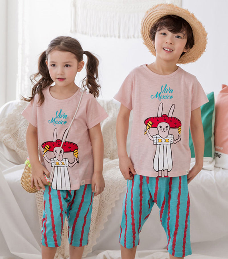 TTASOM - BRAND - Korean Children Fashion - #Kfashion4kids - Mexican Rabbit Easywear