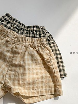ANGGO - BRAND - Korean Children Fashion - #Kfashion4kids - Peanut Check Pants