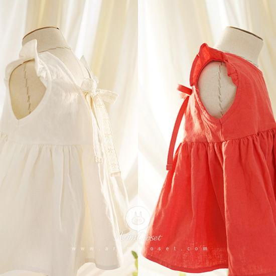 ARIM CLOSET - BRAND - Korean Children Fashion - #Kfashion4kids - Linen Cotton Cute Blouse