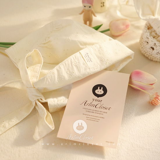 ARIM CLOSET - BRAND - Korean Children Fashion - #Kfashion4kids - Lovely Natrual Lace Baby Bonnet