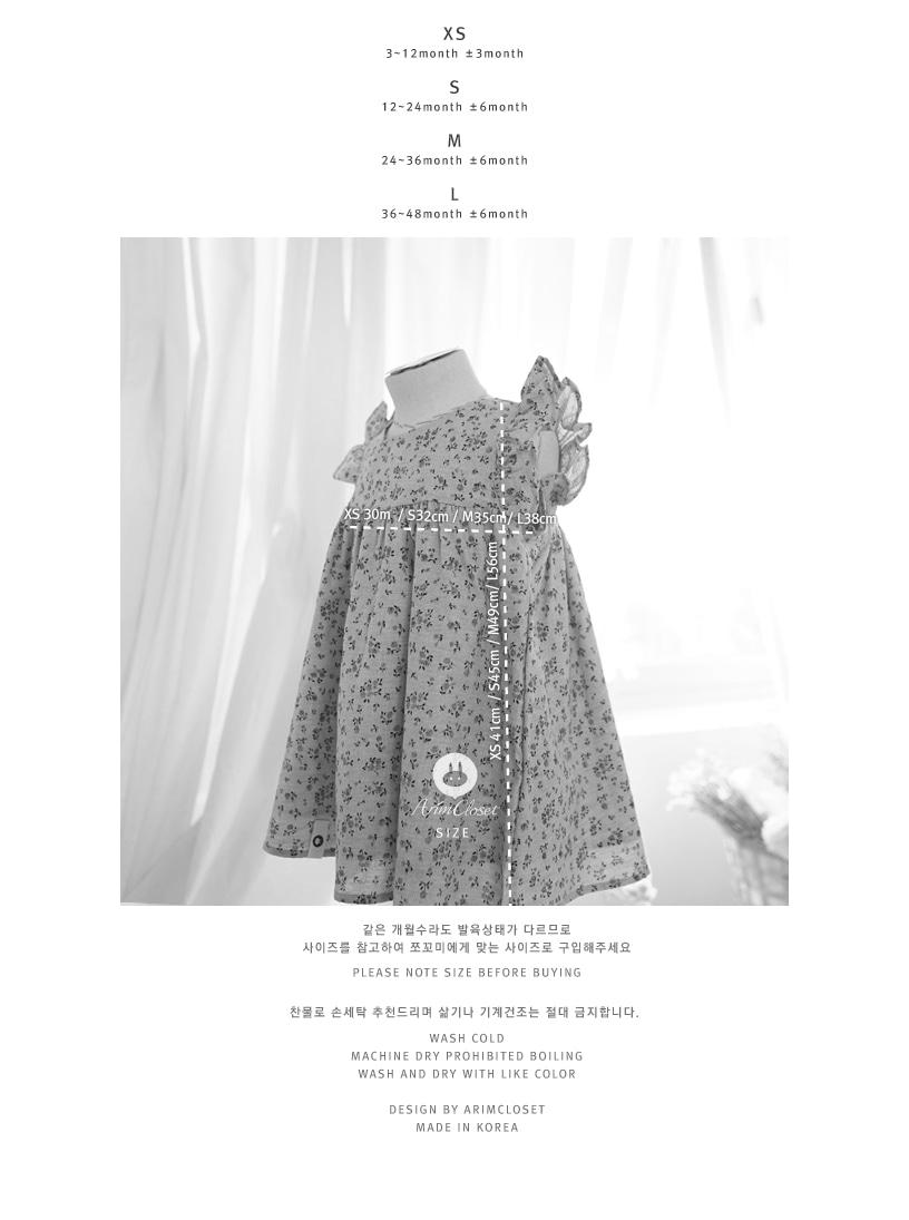 ARIM CLOSET - Korean Children Fashion - #Kfashion4kids - Navy Ribbon Violet Flower Dress - 3