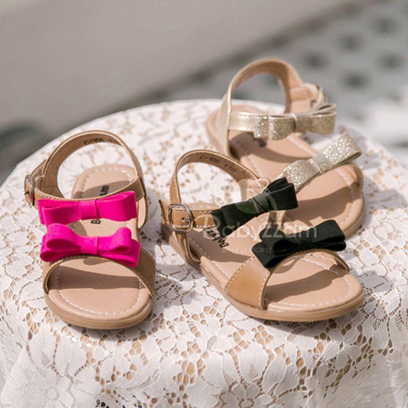 BABYZZAM - BRAND - Korean Children Fashion - #Kfashion4kids - Two Ribbon Sandal