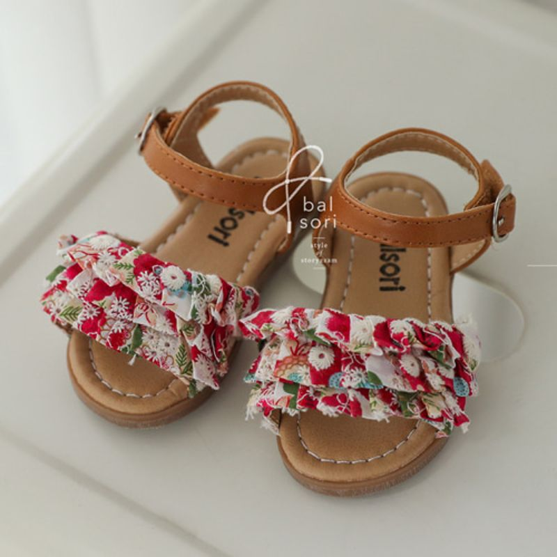 BABYZZAM - BRAND - Korean Children Fashion - #Kfashion4kids - Ruffle Sandal