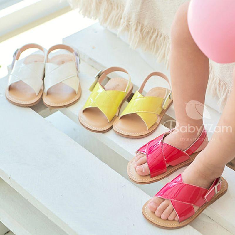 BABYZZAM - BRAND - Korean Children Fashion - #Kfashion4kids - Enamel Cross Sandal