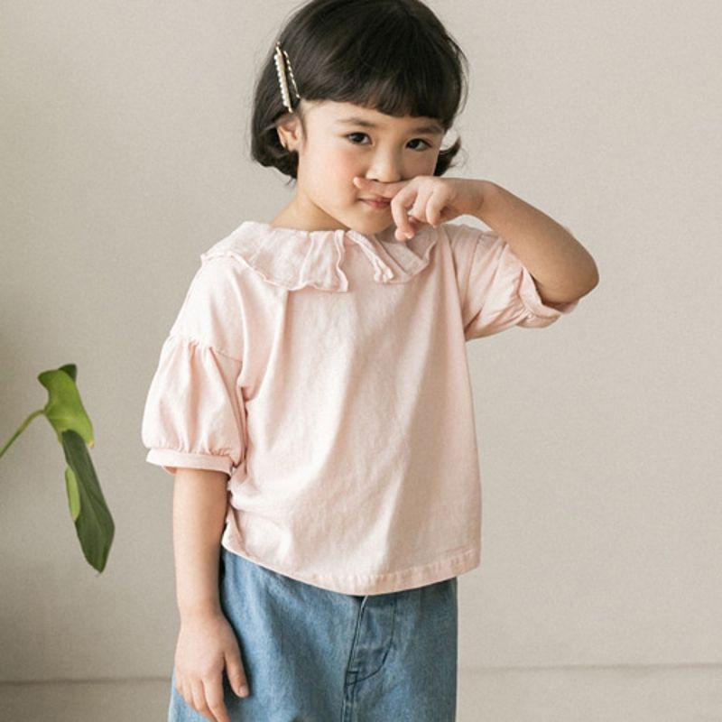 HONEYBEE - BRAND - Korean Children Fashion - #Kfashion4kids - Collar Pleats Tee
