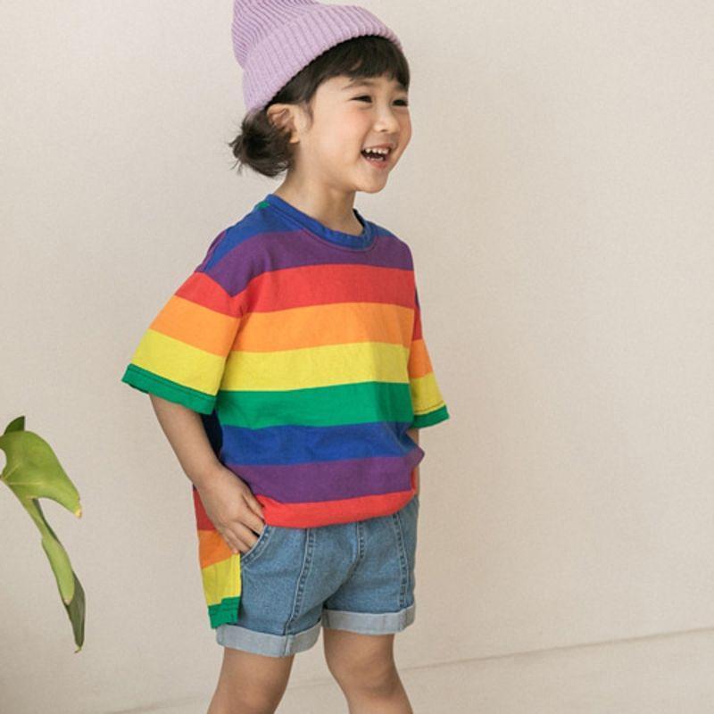 HONEYBEE - BRAND - Korean Children Fashion - #Kfashion4kids - Rainbow Long Tee