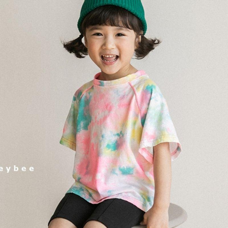 HONEYBEE - BRAND - Korean Children Fashion - #Kfashion4kids - Neon Print Tee