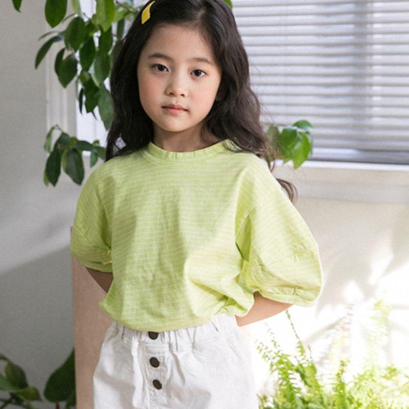 HONEYBEE - BRAND - Korean Children Fashion - #Kfashion4kids - Puff Sleeve Tee