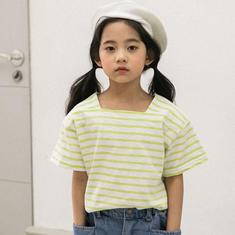 HONEYBEE - BRAND - Korean Children Fashion - #Kfashion4kids - Stripe Tee
