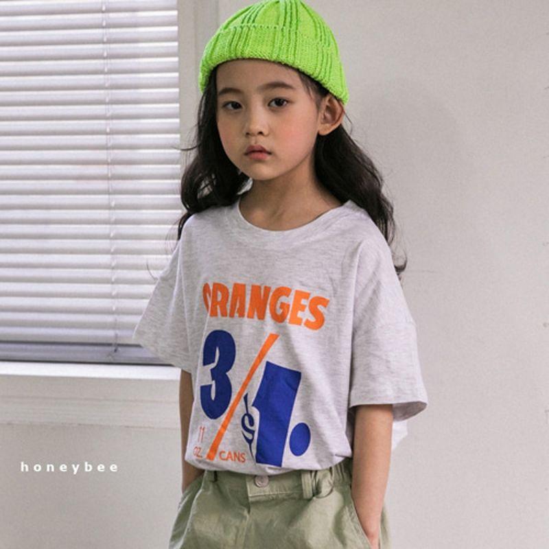 HONEYBEE - BRAND - Korean Children Fashion - #Kfashion4kids - 31 Print Tee
