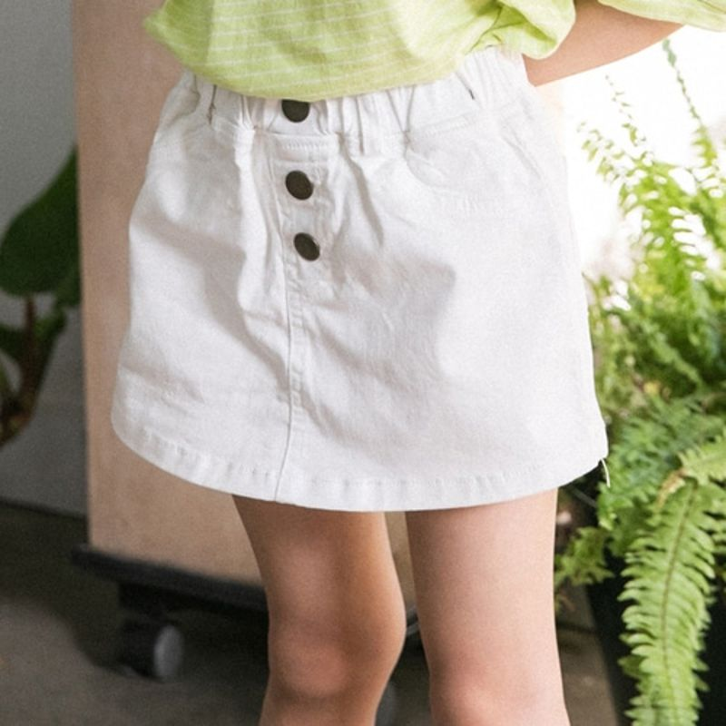HONEYBEE - BRAND - Korean Children Fashion - #Kfashion4kids - Button Skirt Pants